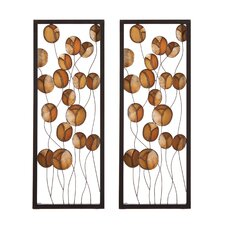 Autumn Abstract Wall Panel (Set of 2)
