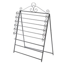 Verosa Easel / Wall Mount Craft Storage Rack in Black
