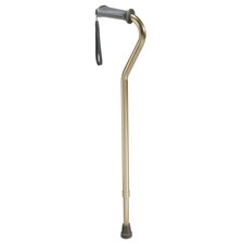 Aluminum Rehab Ortho K Grip Offset Handle Cane with Wrist Strap