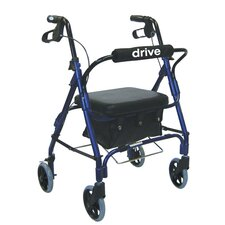 Junior Low Handle Rollator Walker with Padded Seat and Backrest