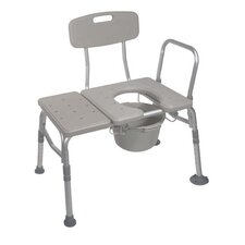 Knock Down Combination Plastic Transfer Bench/Commode