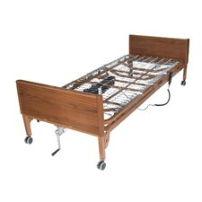 Semi Electric Ultra Light Plus Hospital Bed in Brown