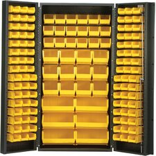 "36"" Wide Welded Storage Cabinet with 132 Ultra Bins"