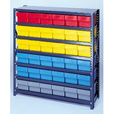 "Open Shelving Storage System with Euro Drawers (75"" H x 36"" W x 18"" D)"