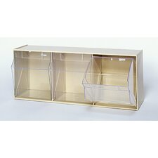 Clear Tip Out Bins (3 Compartments)