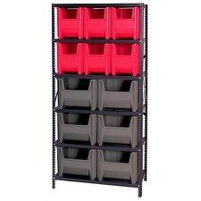 Giant Stack Container Shelf Storage Systems with Various Bins