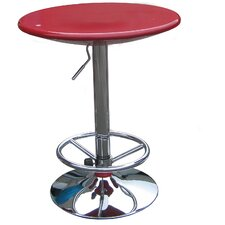 Luna Adjustable Pub Table in Red