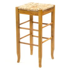 "29"" Rush Seat Barstool in Oak"