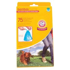Arm And Hammer Disposable Handle-Tie Pet Waste Bag - 75 Count