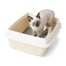 Large Cat Litter Pan with Rim