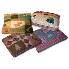 Quilted Dog Bed in Country Dog