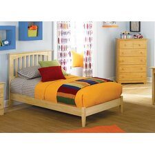 Brooklyn Platform Bed with Open Footrail in Natural Maple