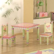 Magic Garden Kids' 3 Piece Table and Chair Set