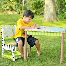 Sunny Safari Kids' 3 Piece Table and Chair Set