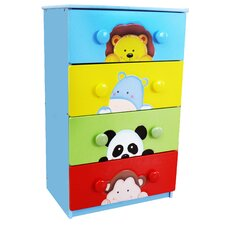 Sunny Safari 4 Drawer Chest