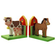 Happy Farm Room Book Ends