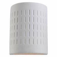 Paintable Ceramic 1 Light Wall Sconce