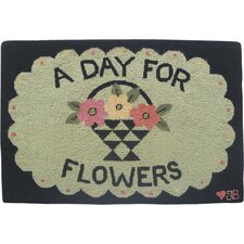A Day For Flowers Novelty Rug