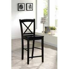 Black X Bar Stool