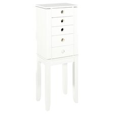 Brittany Jewelry Armoire in Crisp White