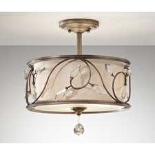 Priscilla 3 Light Semi Flush Mount