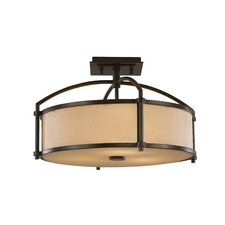 Preston 3 Light Semi Flush Mount