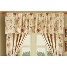 Antique Rose Cotton Tailored Window Valance