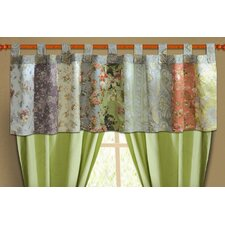 Blooming Prairie Cotton Tab Top Tailored Window Valance