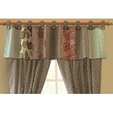 Stella Cotton Tab Top Tailored Curtain Valance