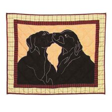 Black Lab Standard Pillow Sham