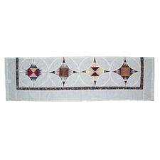 Hidden Circle Cotton Rod Pocket Tailored  Curtain Valance