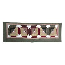 Snowflake Log Cabin Cotton Rod Pocket Tailored Curtain Valance