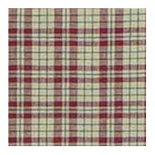Tan and Red Plaid Pillow Sham
