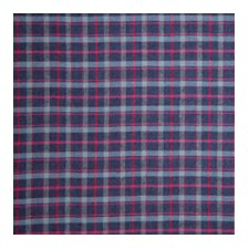 Grey and Navy Blue Plaid, and Red Lines Napkin (Set of 4)