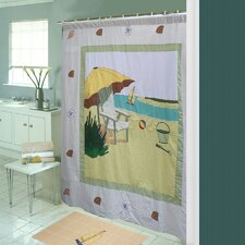 Ocean View Cotton Shower Curtain