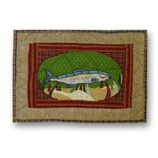 Gone Fishing Cotton Crib Toss Pillow