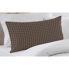 Cream Tartan Plaid Fabric Pillow Sham
