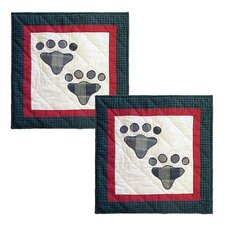 Fido-Paw Cotton Toss Pillow (Set of 2)