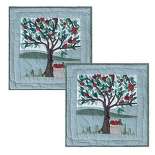 Apple Cart Cotton Toss Pillow (Set of 2)