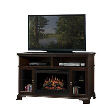 "Brookings 53"" TV Stand with Electric Log Fireplace"