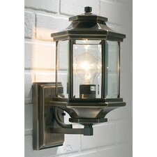 Ladbroke Outdoor Wall Lantern in Antique Brass