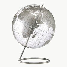 Crystal Marquise Transparent Silver World Globe
