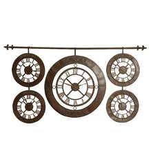 Time Zones Hanging Wall Clock