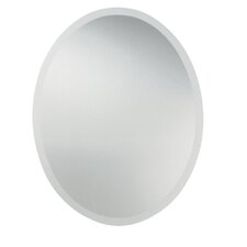 Oval Frameless Wall Mirror