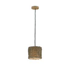 Woven Rattan 1 Light Mini Pendant