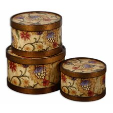 Winola Box in Distressed Bronze (Set of 3)