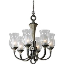 FW Generic Gilman 6 Light Curved Arm Chandelier