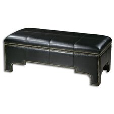 Onika Faux Leather Storage Bench
