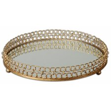 Dipali Mirrored Round Serving Tray
