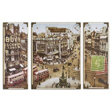 Picadilly Circus Wall Art (Set of 3)